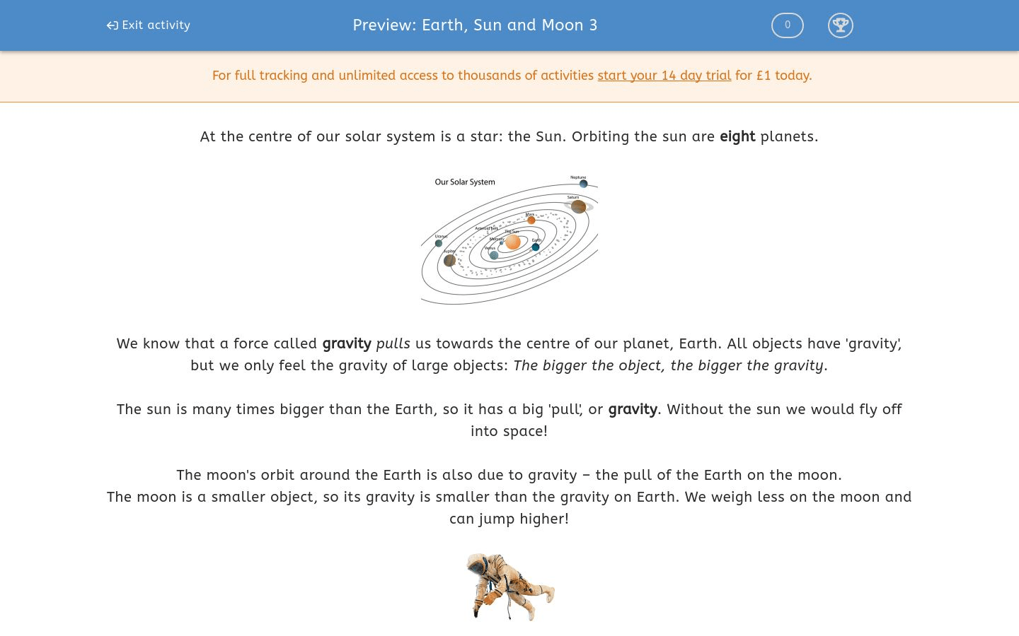 Earth Sun And Moon 3 Worksheet