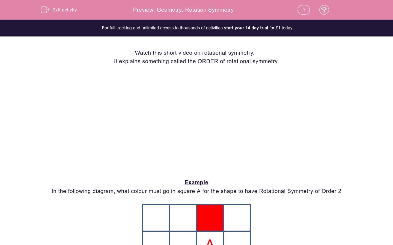 Geometry Rotation Symmetry Worksheet