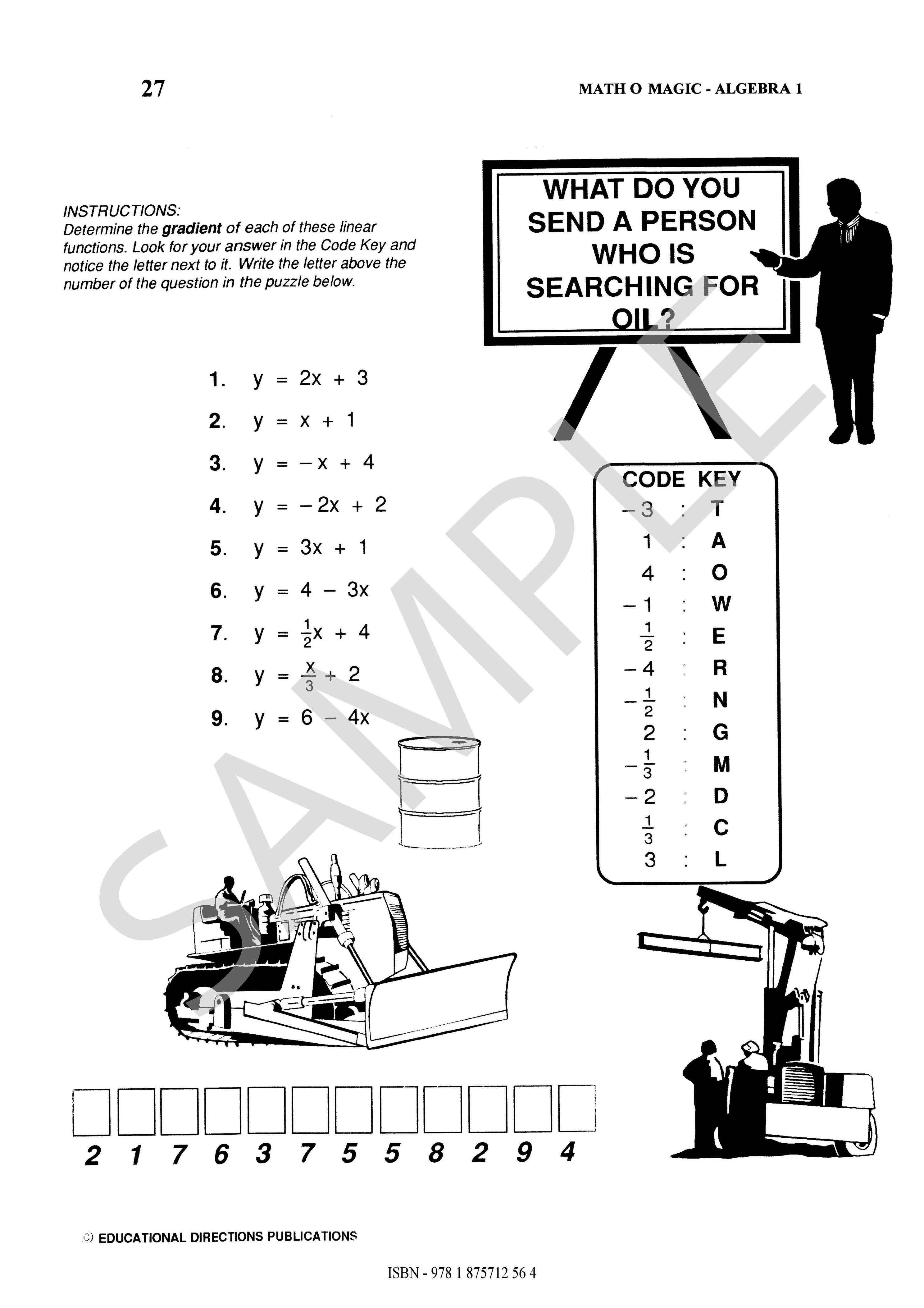 Math O Magic Algebra 1