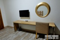 LCD TV and work space area