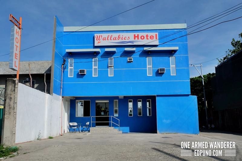 facade of Wallabies hotel Capiz