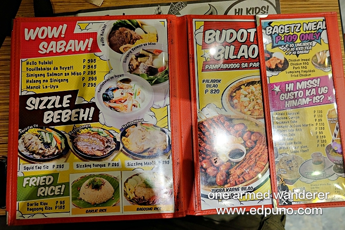 Boy Zugba CDO Menu 3
