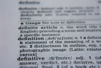 A dictionary page as featured image of English Vocabulary 2 course
