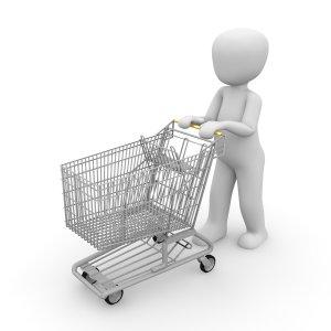 shopping cart, shopping, chrome steel-1026501.jpg