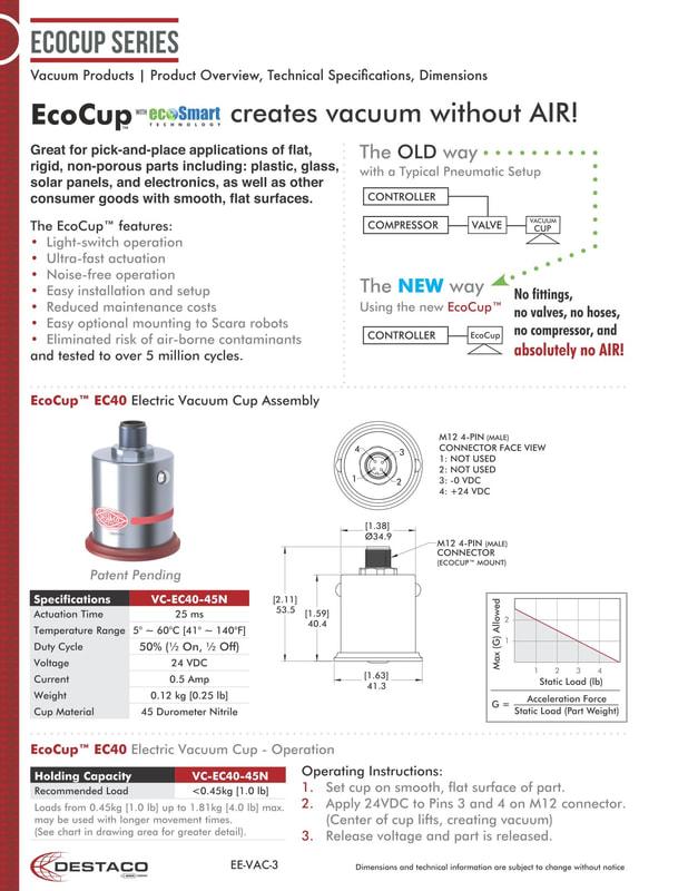 DESTACO 電子真空杯 Ecocup™ - 龍欣科技股份有限公司 (EDRAGON TECHNOLOGY CORPORATION)