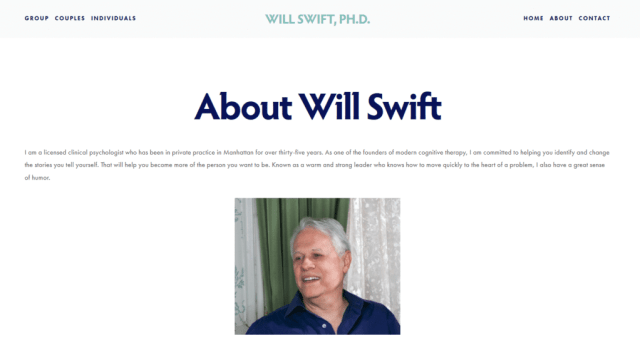NYC Therapy Practice of Will Swift Ph.D.