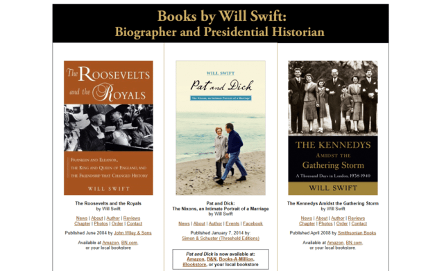 US Presidential Biographies by Historian Will Swift, Ph.D.