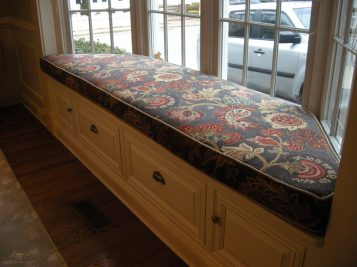 Custom made window seat cushion 08