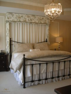 Custom bedding with headboard 05