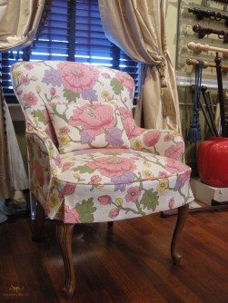 Custom upholstered armchair 06