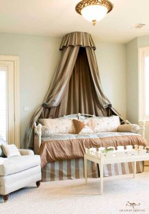 Canopy with matching bedskirt and Bolsters