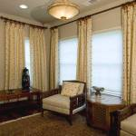Duette Shades with Side panels for Guest-bedroom