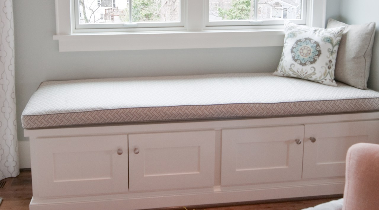 Custom made window seat cushion 06