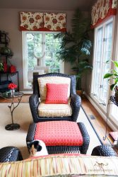 Custom upholstered armchair and ottoman 07