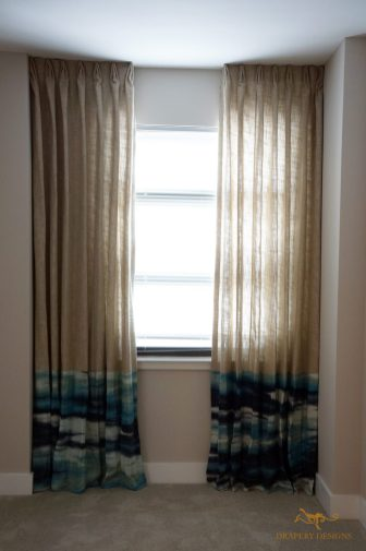 lined sheer panels with color bands