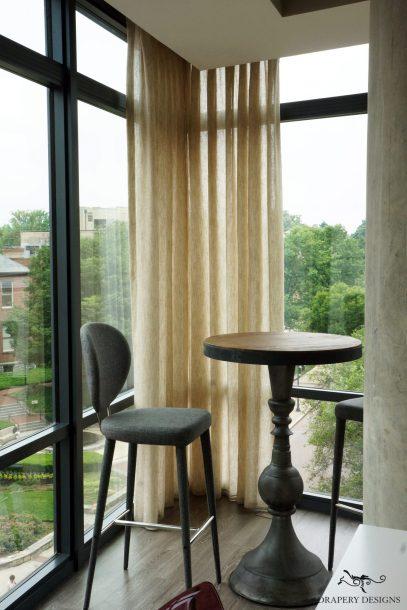 Living room corner windows