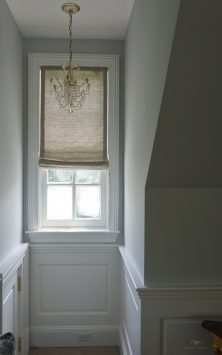 Roman shade for arched window 01