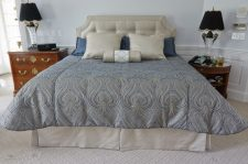Custom bedding with headboard 02