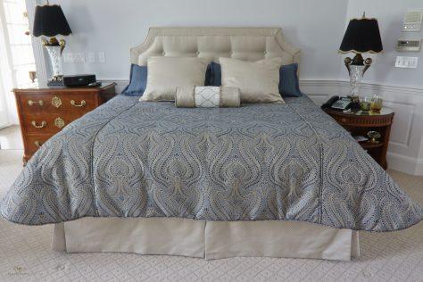 Custom bedding with headboard 02