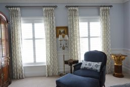 Goblet pleated drapes with accent ties