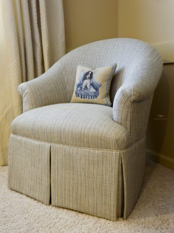 Re-upholstered Barrel Chair