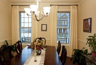 White Color panels in Dining Room
