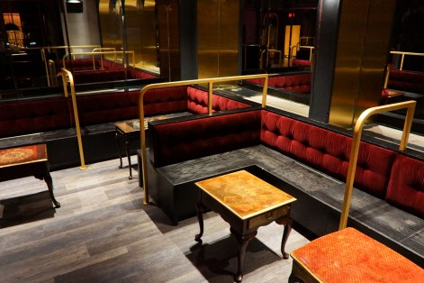 banquette cushions for a night club