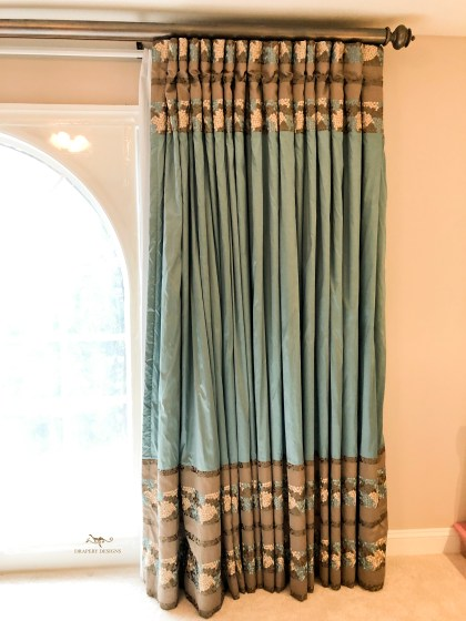 Silk panels with color blocks