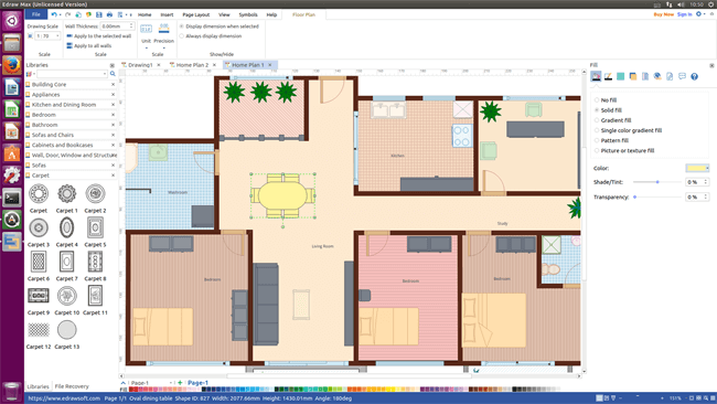 Sweet Floor Plan Software for Linux  Design Floor Plan and Arrange Furniture Quickly