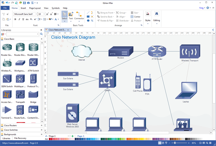 Network Diagram Creator Online Types Of Diagrams But Diagramly Is