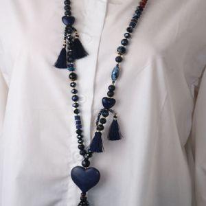 collier coeur bleu e dressing des copines