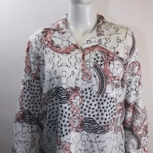 chemise imprimée motif haute couture e dressing des copines