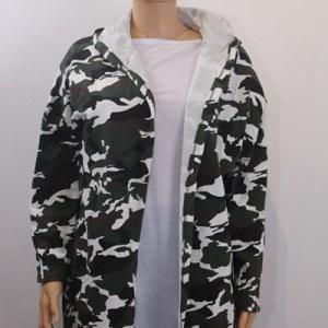 gilet à capuche camouflage e dressing des copines