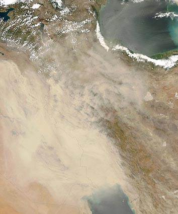july 5 dust storm over Iraq