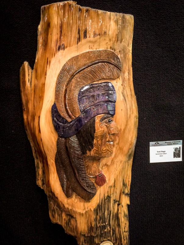 Big Tree Exhibit - Ted Page Seminole Indian Carving