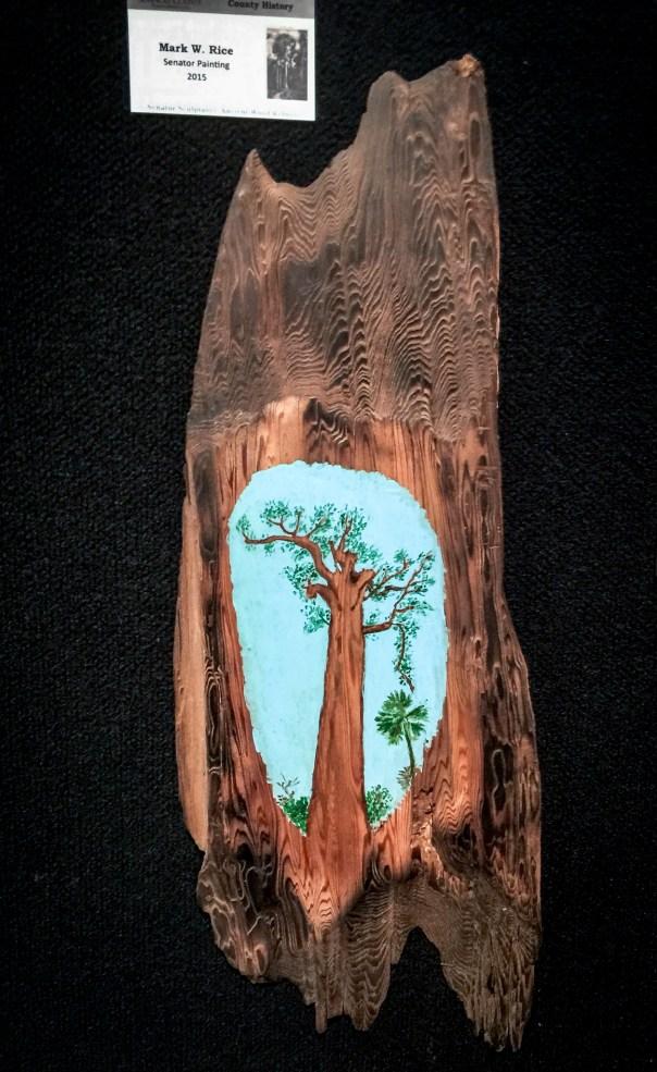 Big Tree Exhibit - Mark Rice Senator Painting