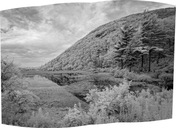 """The Tarn -This is a three frame panorama from Acadia National Park that I'd never processed. I used it to test the new """"Boundary Warp"""" feature"""
