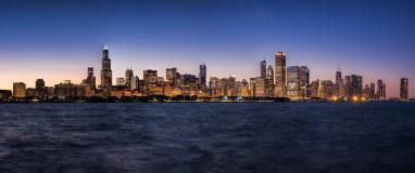 Chicago at twilight