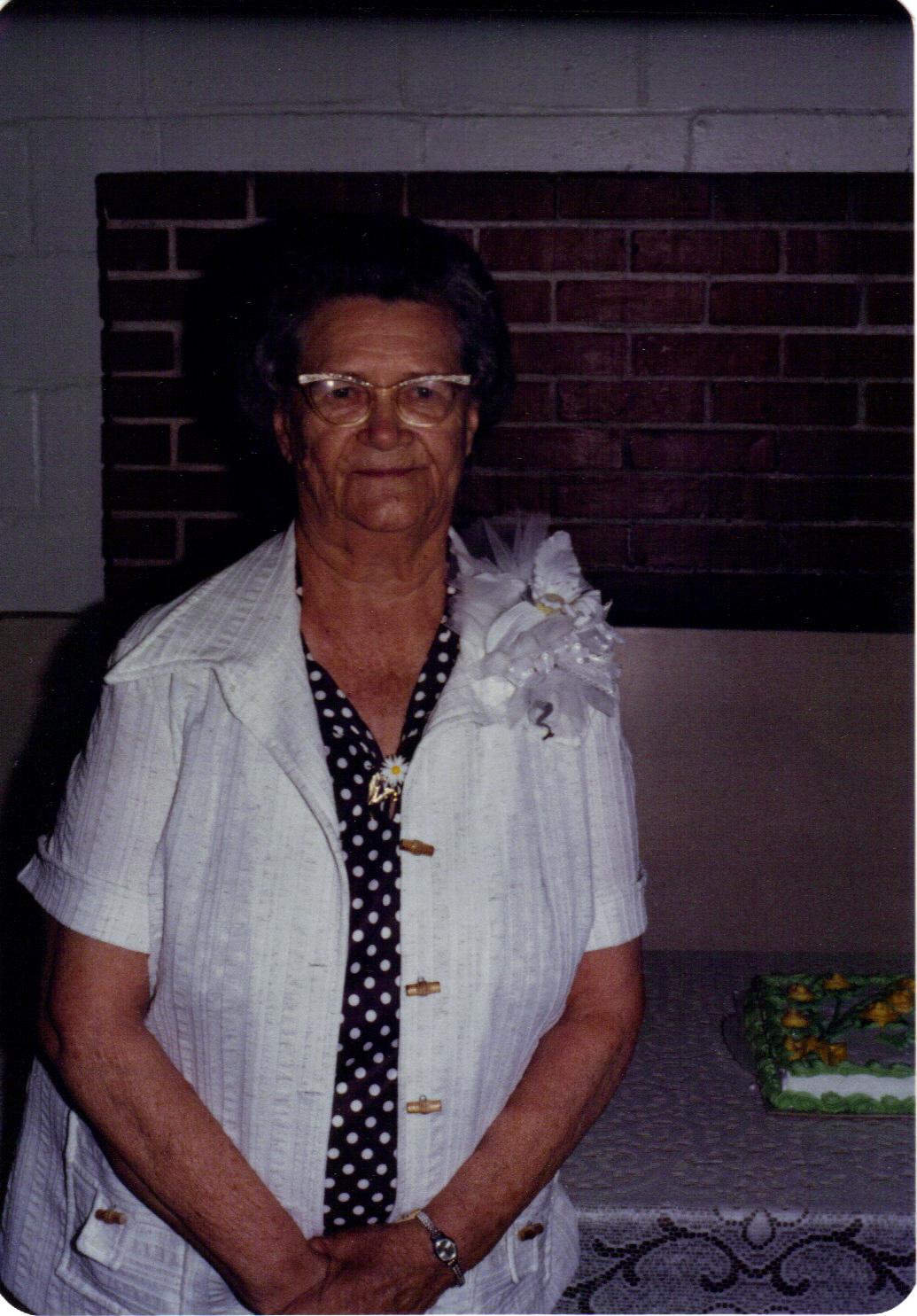 Grandma on her 77th birthday in 1980
