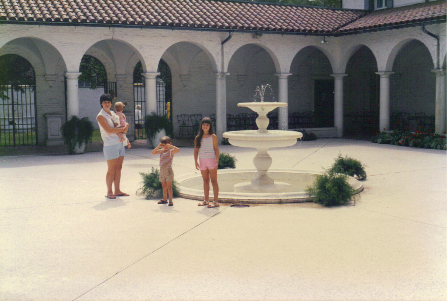 Me and the children in the courtyard of an old Jeckyl Island, GA mansion...cir. 1986