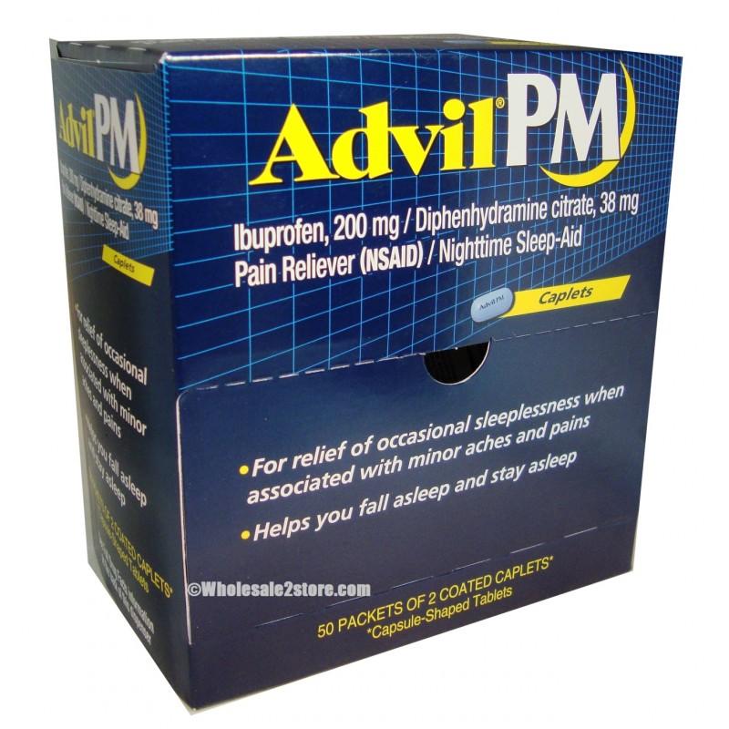 Advil PM 200mg – 50/2 Caps – EDS Imports