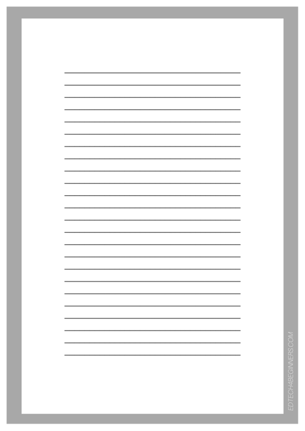 A Range Of Free Downloadable Writing Templates – EDTECH