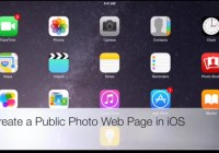 Create a Photo Web Page for Collaboration in iOS