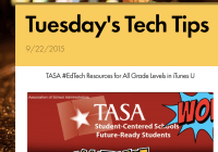 Tuesday's Tech Tips 9/22/2015