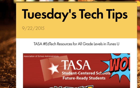 Tuesday's Tech Tips