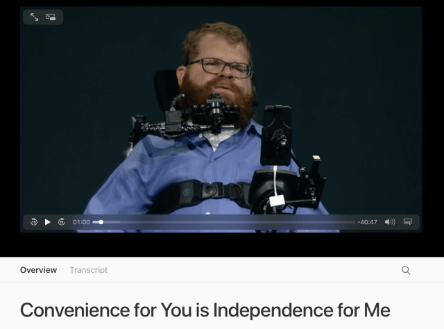 Todd Stabelfeldt Apple Accessibility WWDC 2017
