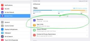 Screen Time foriOS 12 iPad iPhone