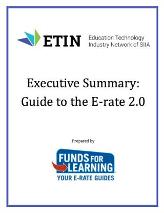 CREDIT ETIN SIIA E-Rate Guide exec summary