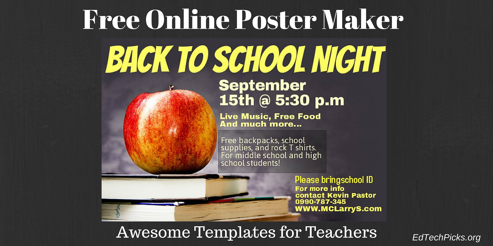 a free online poster