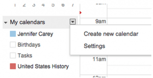 create shared google calendar